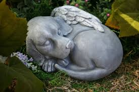statue beautiful pet memorial garden sculpture 49 99