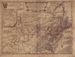 Map Of New England Colonies by 1755 To 1759 Pennsylvania Maps