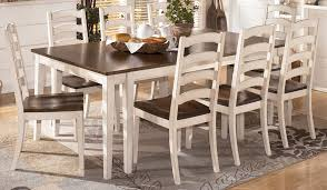 ashley furniture kitchen chairs white cozy and pleasant table