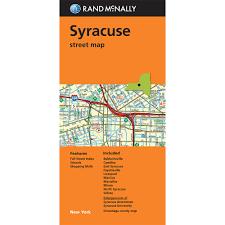 Syracuse University Map Folded Maps Syracuse