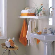 Clever Bathroom Ideas by Clever Ways To Organize With Towel Shelf Home Decorations