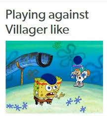 Funny Villager Memes - spongebob against villager super smash bros and nintendo