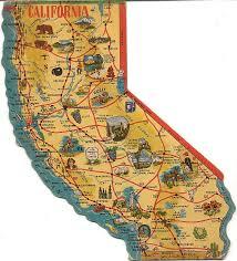 california map national parks yosemite national park on vintage postcards