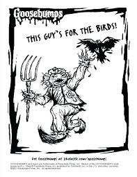 printable goosebumps bookmarks scarecrow coloring pictures