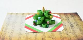 how to make a 3d tree quilling paper greeting card with