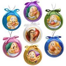 snow white and the seven dwarfs decoupage ornament set 7