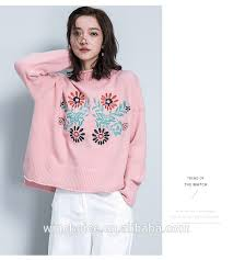 customized long sleeve pink sweater pullover turtleneck ladies