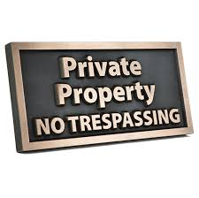 amazon com private property no trespassing 14x7 raised bronze