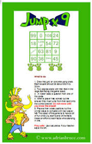 Multiplication Table Games by Number