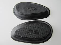 ariel gas tank knee pad rubber grip set red hunter sq 4 1937 52