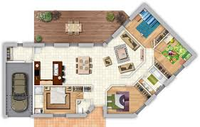 plan maison plain pied 4 chambres avec suite parentale maison contemporaine avec pièce de vie lumineuse 4 chambres