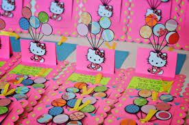 Hello Kitty Invitation Cards Jingvitations Handmade Invitations And Banner Hello Kitty Color