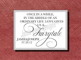 wedding quotes guestbook wedding fairy tale quote sign anniversaries happy marriage