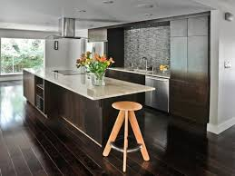 dark wood floor and white kitchen also dark hardwood floors and