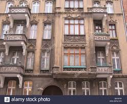 pre war apartment block in wroclaw poland stock photo royalty
