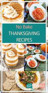no bake thanksgiving recipes
