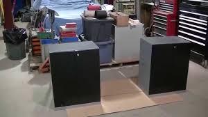 custom rolling paint cabinet workbench using newage garage