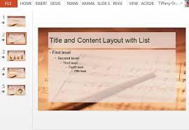 sheet music design powerpoint template