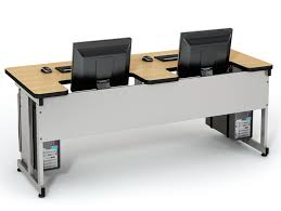 Recessed Computer Desk Recessed Lcd Table Computer Lab Tables Classroom Furniture
