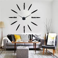 Home Decoration Wall Stickers 3d Diy Modern Mute Mirror Wall Clock Wall Sticker Home Decoration