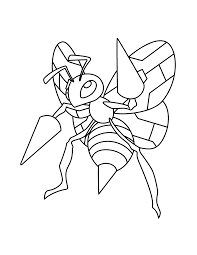 coloring pages stunning pokemon coloring pages beedrill