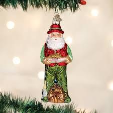 amazon com old world christmas fly fishing santa glass blown
