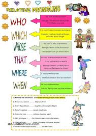 relative pronouns worksheets 4th grade worksheets