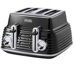 Black Kettle Toaster Set Buy Delonghi Scultura Ctz4003bk 4 Slice Toaster Black Free