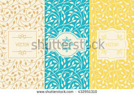 vector set packaging design templates seamless stock vector