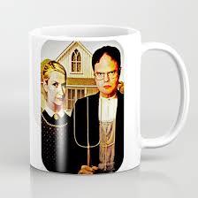 Office Coffee Mugs Dwight Schrute U0026 Angela Martin The Office American Gothic