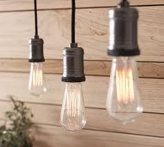 Track Lighting Pendants Exposed Bulb Pendant Track Lighting Pottery Barn