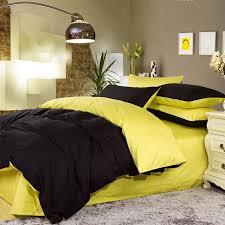 Black Comforter King Size Bedroom Yellow Black White Teen Boy Bedding Twin Fullqueen King