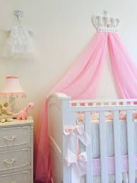 Princess Nursery Bedding Sets by Pink White Girls Bed Canopy Princess Shabby Chic Crown Voile