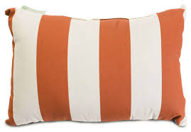 Orange Patio Cushions by Majestic Home Goods Small Pillow Vertical Strip Pattern