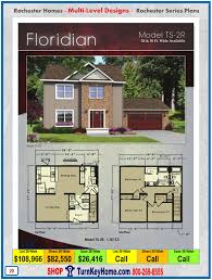 bi level home plans priced