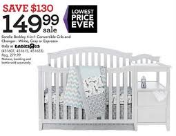 Sorelle 4 In 1 Convertible Crib Toys R Us Black Friday Sorelle Berkley 4 In 1 Convertible Crib