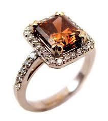 brown diamond engagement ring orangey brown diamond ring reuven gitter jewelers