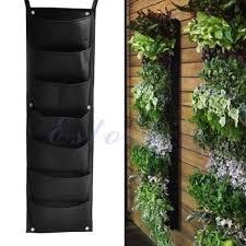 7 pocket hanging vertical garden planter indoor outdoor