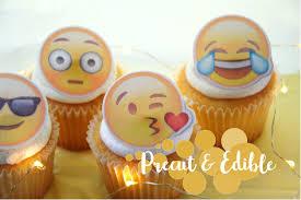 emoji cupcake topper precut edible image cupcake topper