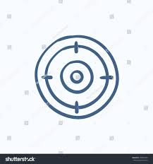 target board vector sketch icon isolated stock vector 438845962