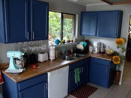 blue painted kitchen cabinet ideas paint it blue combining colour ideas for your simple