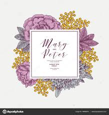 Wedding Invite Template Floral Wedding Invitation Template Vintage Flower Greeting Card