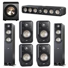 home theater 7 1 speaker system polk audio signature 5 1 system with 2 s55 tower speaker 1 polk