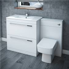 High Gloss Bathroom Furniture Modern White High Gloss Wall Cabinets With Stylish Grey Textured