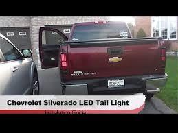 chevy silverado led tail lights 2008 2013 chevy silverado winjet led tail light black smoke youtube