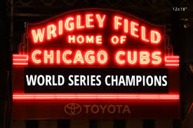 chicago cubs world series champions wrigley field photo