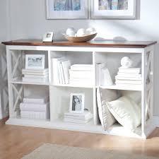 Belham Living Hampton Console Table 2 Shelf Bookcase White Oak