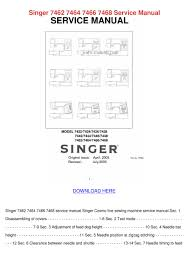 singer 7462 7464 7466 7468 service manual by janett kofford issuu