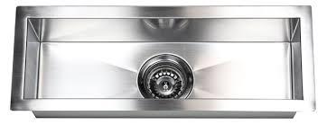 Stainless Steel Zero Radius Narrow Kitchen Prep Island Bar - Smallest kitchen sink
