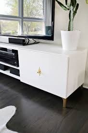 ikea white tv stand ikea restyle mid century tv stand u2013 a beautiful mess